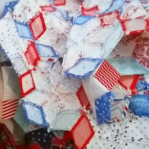 Star Spangled Diamonds quilt in progree