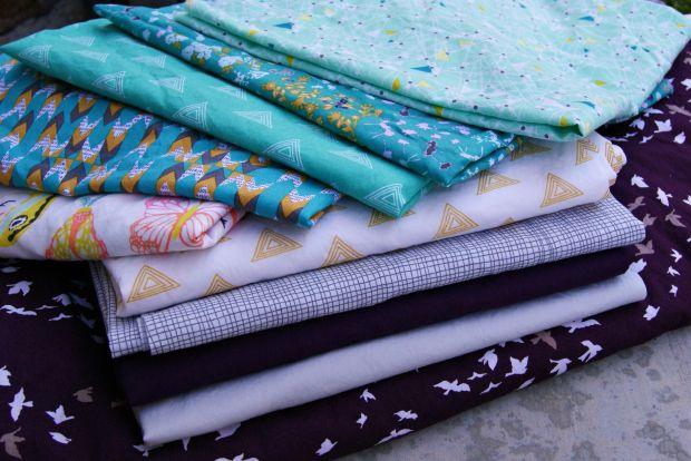 Stack of Art Gallery fabrics