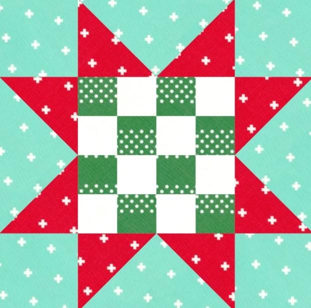 Checkerboard Star Block EQ8